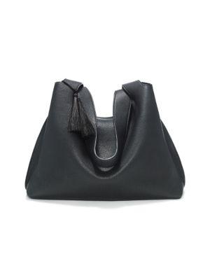 the row female 188971 duplex pebbled leather hobo bag
