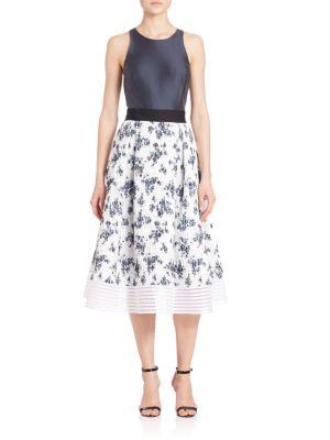 Gero Combo Midi Gown