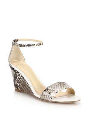 alexandre birman female 45883 python wedge sandals
