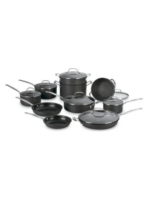 Chef's Classic Non-Stick Hard Anodized 17-Piece Cookware Set 0400088881500