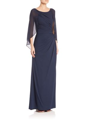 Draped Silk Gown