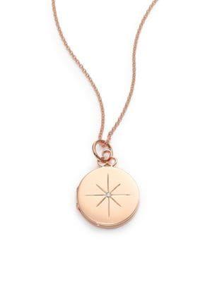 DEVON WOODHILL North Star Diamond & 14K-18K Rose Gold Locket Necklace