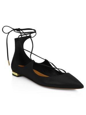 Christy Leather Lace-Up Flats
