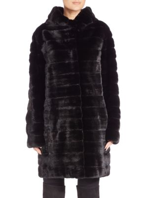 Hooded Mink Fur Coat by The Fur Salon