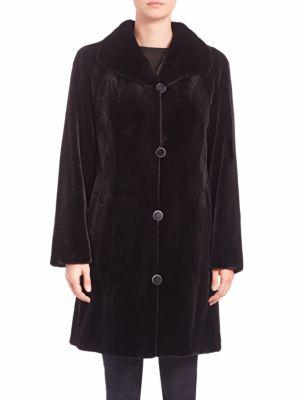 Reversible Sheared Mink Fur Coat by Carmen Marc Valvo