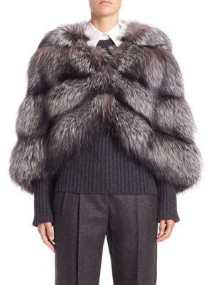Horizontal Fox Fur Cape