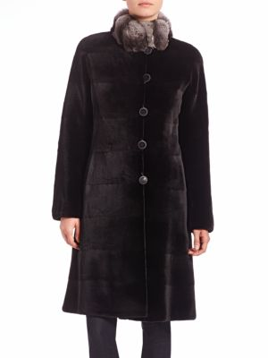 Reversible Chinchilla & Sheared Mink Fur Coat by The Fur Salon