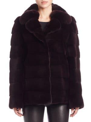Chinchilla and Sheared Mink Fur Jacket