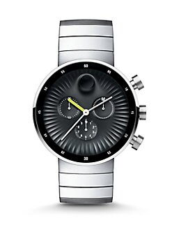 men s clothing suits shoes more saks com movado edge chronograph stainless steel bracelet watch