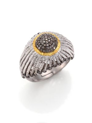 COOMI SILVER Diamond, 20K Yellow Gold & Sterling Silver Ring