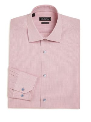 Slim-Fit Check Cotton Dress Shirt