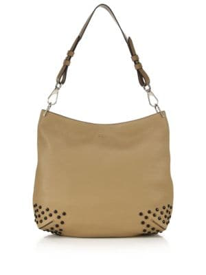 tods female  gommini medium leather hobo bag