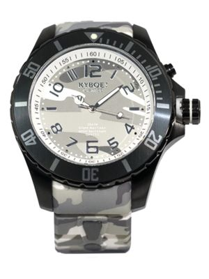 Stainless Steel Camo Dial Watch