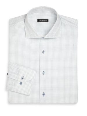 COLLECTION Regular-Fit Graph Paper Dress Shirt