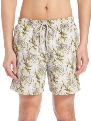 Palm Leaf Swim Trunks