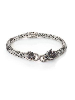 Legends Macan Black Sapphire, Black Spinel, Swiss Blue Topaz & Sterling Silver Bracelet