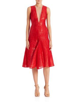 Taiwan Tower Silk Velvet Dress