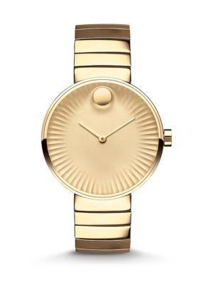 Movado Edge Goldtone Stainless Steel Bracelet Watch