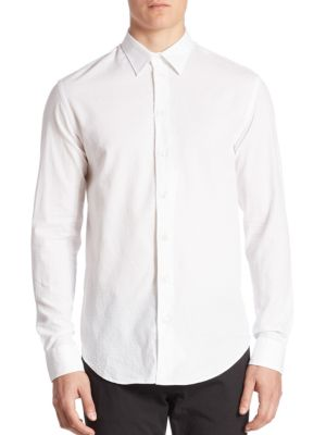 Textured Jacquard Sport Shirt