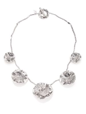 Serenity Diamond & Sterling Silver Flower Necklace