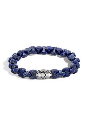 Batu Classic Sterling Silver and Lapis Lazuli Bracelet