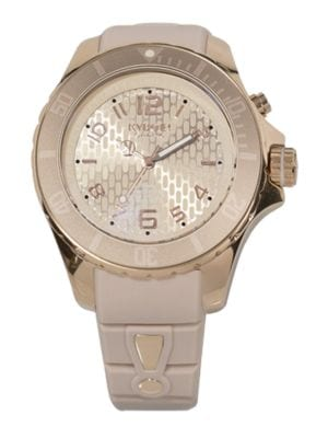 Power Sand Dollar Silicone & Rose Goldtone Stainless Steel Strap Watch/48MM