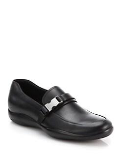 black leather prada sneakers