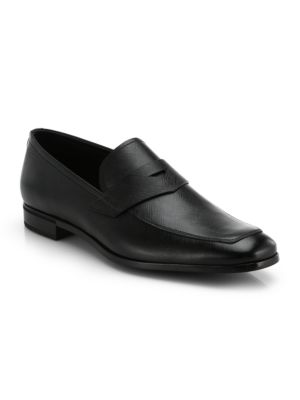 Saffiano Penny Loafers