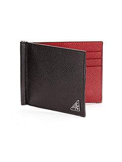 Prada | Men - Accessories - Wallets, Clips \u0026amp; Key Rings - Saks.com