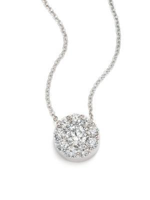 HEARTS ON FIRE Fulfillment Diamond & 18K White Gold Pendant Necklace