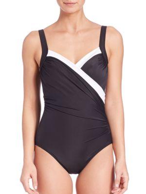 One-Piece Two-Tone Sanibel Swimsuit plus size,  plus size fashion plus size appare
