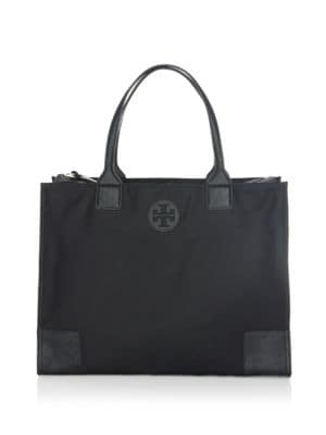 Ella Packable Nylon & Saffiano Leather Tote