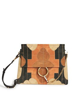FAYE BAG IN SUEDE CALFSKIN RAINBOW PATCHWORK & SMOOTH CALFSKIN