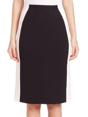 Two-Tone Slim Knit Skirt plus size,  plus size fashion plus size appare