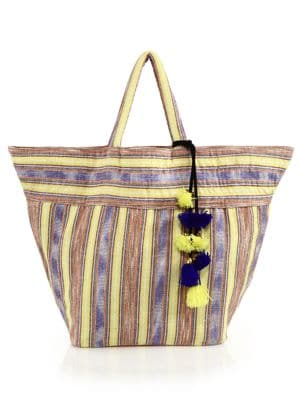 Ikat Cotton Beach Tote