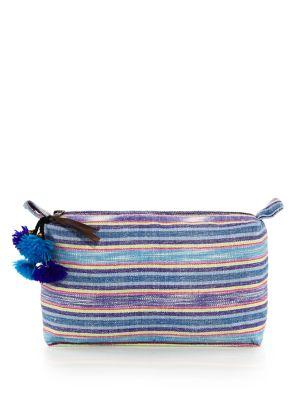 Striped Cotton Cosmetic Case