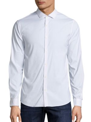 michael kors male slimfit stretch buttondown shirt