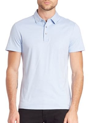 michael kors male cotton polo shirt