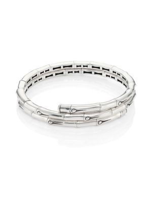 Bamboo Small Sterling Silver Coil Bracelet