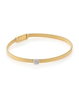 Masai Diamond, 18K Yellow Gold & 18K White Gold Bracelet