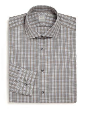 Regular-Fit Lion Plaid Dress Shirt
