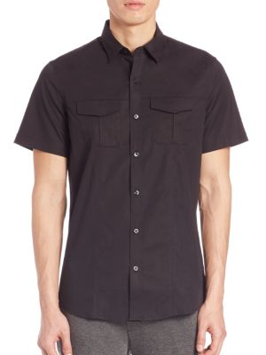Modern Stretch-Cotton Military Shirt