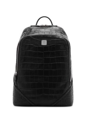Luxus Leather & Coated Canvas Backpack