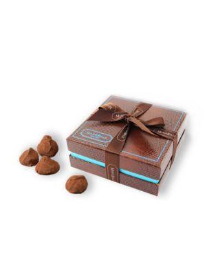 Champagne 12-Piece Dark Chocolate Truffle Box