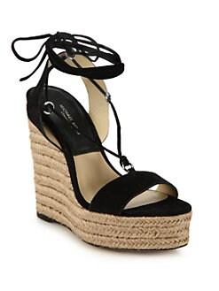 26c77b3554dc Michael Kors Collection Clive Suede Espadrille Platform Wedge Sandals