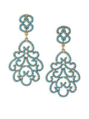 Resin Clip-On Chandelier Earrings