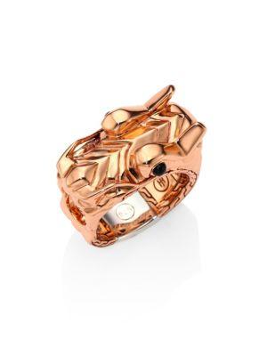 Legends Naga Bronze & Silver Dragon Head Ring