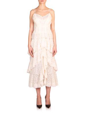 Justina Tiered Crochet Slip Dress