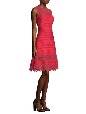 Lace Pintuck Dress