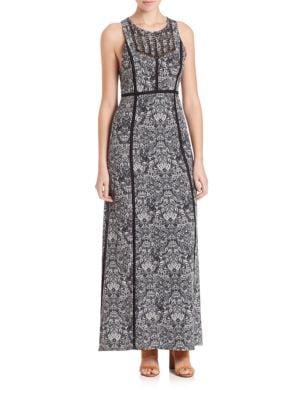 Ridge Printed Maxi Dress